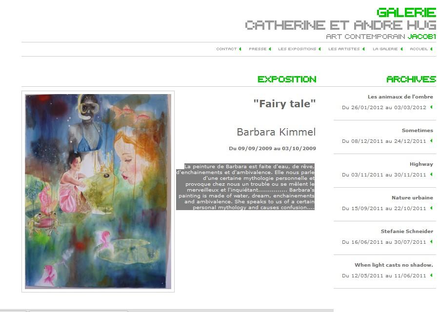2009 / Fairy tale – Galerie Hug