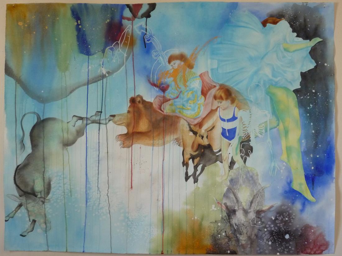 Aquarelle sur papier - février 2009