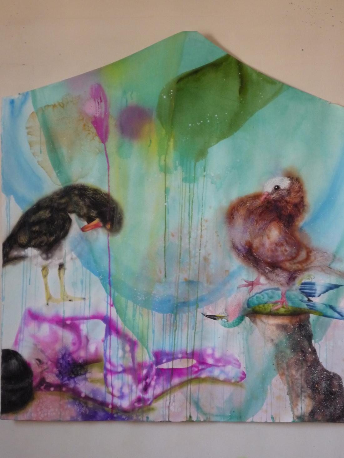 Aquarelle sur papier - 24 janvier 2012